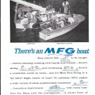 1966 MFG Boat Company 2 Page Ad- Nice Photo of Westfield Models