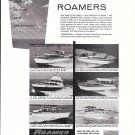 1960 Roamer Steel Boats Ad- Nice Photos of 6 Models