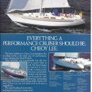 1985 Cheoy Lee Pedrick 43' Yacht Color Ad- Nice Photo