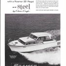 1961 Roamer Steel Boats Ad- Nice Photo of 35' Regal
