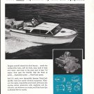 1959 Auto- Lite Marine Ad- Nice Photo of Chris- Craft 27' Constellation Yacht