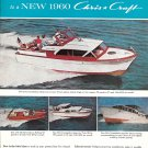 1960 Chris- Craft Yachts Color Ad- Nice Photos of 4 Models
