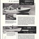 1960 Pochin Craft Boats Ad- Nice Photos of 2 Models