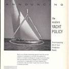 1962 Chubb Insurance Ad- Nice Photo of Yacht