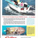 1962 Cutter Boats Color Ad- Nice Photo 18' Gulfstar