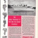 1962 Traveler Skijack Boat Ad- Nice Photo