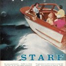 1955 Evinrude Starflite V-4 50 HP Outboard Motors 2 Page Color Ad-Nice Photo