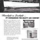 1950 Richardson Boat Company Ad- Nice Photo of 35' Model