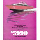 1967 Chris- Craft 26' Cavalier Boat Color Ad- Nice Drawing