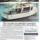 1970 De Fever 50 Passagemaker Yacht Color Ad- Nice Photo