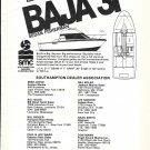 1975 Baja 31 Sedan Fisherman Yacht Ad- Specs