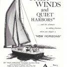 1960 Ray Greene 26' New Horizons Sloop Ad- Nice Photo