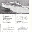 1960 Cruis Along Boats 2 Page Ad- 5 Models- Nice Photo