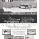 1966 Henry Grebe Yachts Ad- Nice Photos of 6 Models