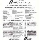 1966 Rodi Chris- Craft Boats Ad- Photos of 4 Models