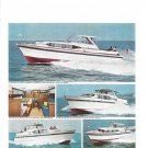 1966 Chris- Craft Yachts 2 Page Color Ad- Nice Photos Riviera Models