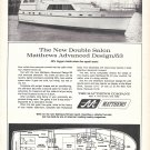 1968 Matthews Advanced Design 53' Yacht Ad- Nice Photo