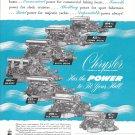 1950 Chrysler Marine Engines Ad- Photo of 7 Models