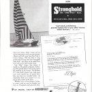 1953 Stronghold Nails Ad- Nice Photo Creger 32' Catamaran
