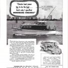 1953 Nordberg Marine Engines Ad- Nice Photo of 36' Prowler Yacht