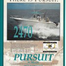 2003 Pursuit 2470 Yacht Color Ad- Nice Photo