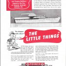 1950 Texaco Marine Products Ad- Nice Photo Chris- Craft Yacht