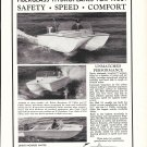 1958 Sea Sled Boats Ad- Nice Photos of 16' & 14' Models