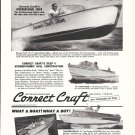 1958 Correct Craft Boats Ad- Nice Photos of 4 Models