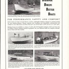 1958 Barbour Boats Ad- Nice Photos of 5 Models