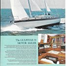 1974 Gulfstar 53' Motor Sailer Color Ad- Nice Photo