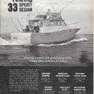 1973 Viking 33 Sport Sedan Yacht Ad- Nice Photo
