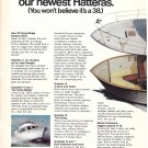 1973 AMF Hatteras 38 Flying Bridge Double Cabin 2 Pg Ad- Nice Photo