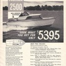 1963 Trojan Boat Company Ad- Nice Photo of 2500 Sea Breeze Express