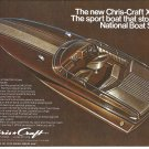 1975 Chris- Craft XK-22 Boat Color Ad- Nice Photo