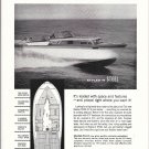 1959 Roamer Steel Boats Ad- Nice Photo 31' Express