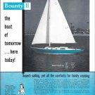 1959 Bounty II Yacht Ad- Specs- Nice Photo