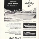 1959 Bell Boy Bellglas Boats Ad- Nice Photos of 3 Models