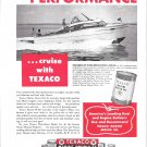 1951 Texaco Marine Ad- Nice Photo Steelcraft 28' Express Cruiser