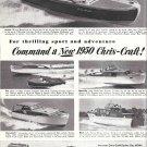 1950 Chris- Craft Yachts Ad- Nice Photos of 6 Models