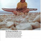 1973 Taperflex of America Water Skies Color Ad-Nice Photo Rick McCormick