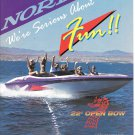 1996 Nordic 22' Open Bow Boat Color Ad- Nice Photo- Hot Girls