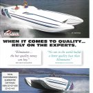 1996 Eliminator Boats Color Ad- Nice Photo 33' Daytona