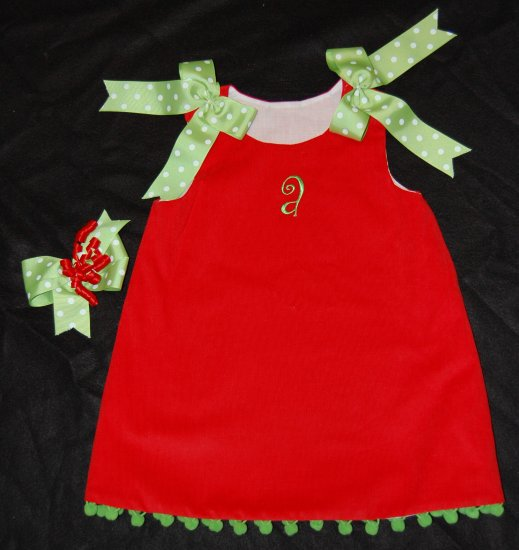 Christmas Monogram Dress