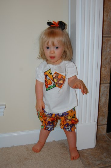 Halloween Shirt and Bloomers Set