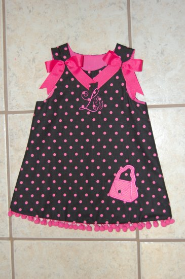 Black and Pink purse dress