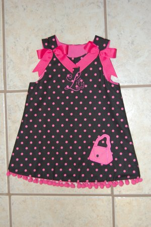 Black and Pink purse dress