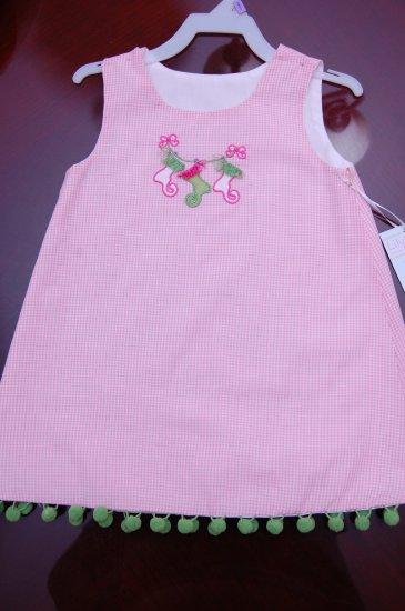 Pink Gingham Stocking Dress