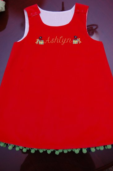 Christmas Name Dress