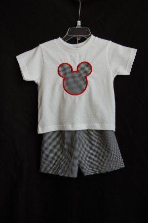 Boy Mouse Shirt and Shorts