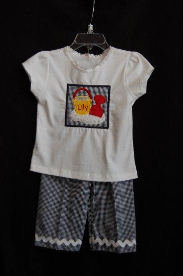 Girl Sand Pail Shirt and Capris